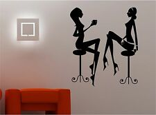 RETRO COFFEE GALS wall art sticker decal BEDROOM kitchen lounge
