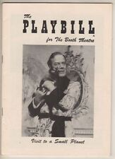 """Cyril Ritchard  """"Visit To A Small Planet""""  Playbill  1957  Gore Vidal"""