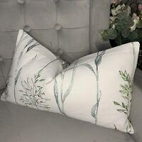 "Cushion Cover 12""x20"" iLiv Field Grasses Eau De Nil Fabric Embroidered"