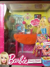 Barbie Dining Room Dinner To Dessert Set New In Package