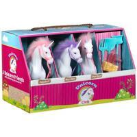 Unicorn Club Stable Playset & Accessories Barn Set of 3 Unicorns Toy Age 3+