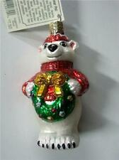 POLAR BEAR PAL IN SWEATER & HAT OLD WORLD CHRISTMAS GLASS ORNAMENT NWT 12070