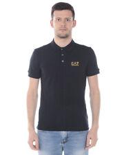 Polo Emporio Armani Ea7 T-shirt Cotone Uomo Nero 8NPF04 PJM5Z 208 Tg. L