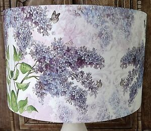 Lilac Lampshade floral vintage flowers shabby chic FREE GIFT