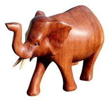 Schöner Holz Elefant Statue Deko Afrika Dekoration Handarbeit Bali Elefant 30