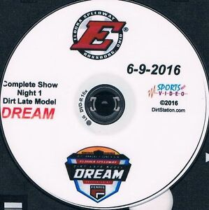 Late Models DVD From Eldora Speedway 6-9+10+11-2016 The Dream