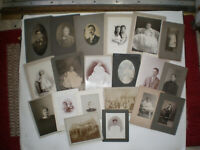 Antique Cabinet Cards Lot of 20 Mixed Photos Photographs Pictures