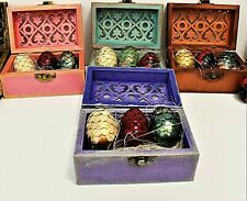 Dragon Eggs, set of 3 in wooden chest, Game of Thrones, Mother of Dragons