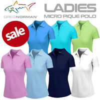 Greg Norman Ladies Micro Pique Short Sleeve Golf Polo Shirt NEW! 2021 *REDUCED*