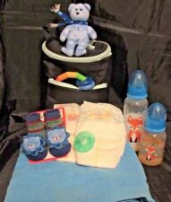 Reborn baby doll travel Diaper bag 0-3 mo with accessories bottles paci pampers