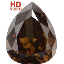 Natural Loose Diamond Pear SI1 Clarity Brownish Green Color 5.50MM 0.49 CT N7136