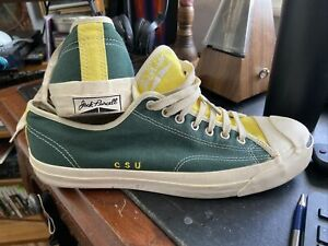 Colorado State University - Green/Yellow - Jack Purcell Mens 11 embroidered