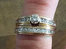 KEEPSAKE Women's 14KT Yellow Gold Diamond Wedding Ring Set Size 9