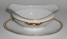 Tirschenreuth Porcelain China Kingston Gravy Bowl w/Gold