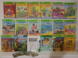 LeapFrog LeapReader Reading and Writing System Age 4-8  17 Books  Green Reader