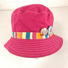 Mudd pink bucket sun hat with buttons hbx36
