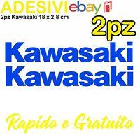 Kit 2 Adesivi Kawasaki 636 zx6r zx10r Z900 z750 z1000 er6n versys Stickers BLU