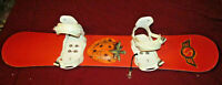 SIMS WOMEN SNOWBOARD - Combo 142 cm STRAWBERRY w/ DRAKE BINDINGS - EASY RIDE!