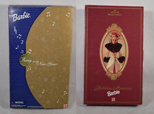 Lot 2 Dolls Barbie Holiday Memories Hallmark Ring in the New Year New