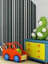 Eijffinger Stripes Only Wallpaper Black White Grey 320538