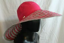 Calvin Klein Floppy Sun Hat Beach Pool Summer Shade Pink Black MSRP $44 NEW