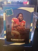 KAREEM HUNT 2017 PANINI DONRUSS RATED ROOKIE CARD #332 MINT! CHIEFS BROWNS