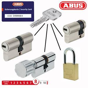ABUS EC660 Zylinder Schloss Türschloss Knaufzylinder Schließanlage 5 Schlüssel