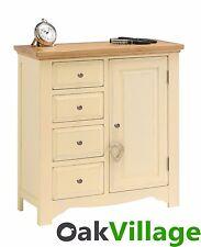 Dorchester Oak Cream Painted 4 Drawer Linen Cabinet / Storage Cupboard / New