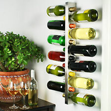 Wine Bar Contemporary Wine Rack | Metal Wall-Mounted 12 Bottle Wine Bottle Rack