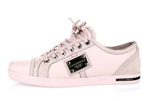 Womens DOLCE & GABBANA light pink leather fashion sneakers Shoes Size 39 $450