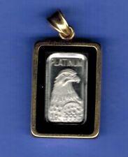 PLATINUM 1 GRAM BAR .9995 EAGLE  CHARM IN 14k KARAT GOLD  Bezel .....