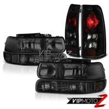 1999-2002 Chevy Silverado Parking Signal Head Lights SINISTER BLACK Tail Lights