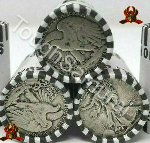 ✯ Walking Liberty DOUBLE ENDER 90% Silver - Sealed Half Dollar Rolls ✯