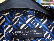 JONES NEW YORK COLLECTION GIACCA PURA SETA SILK tg.22 - XXL TAGLIE FORTI NUOVA!