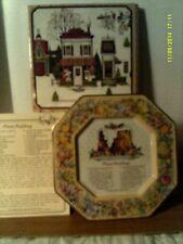 Vtg 1982 Avon Hospitality Sweets Recipe Plate Plum (Made England)-Nib-Free Ship