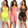 New Women Ladies Clubwear Lace Playsuit Bodycon Party Jumpsuit Romper Shorts
