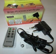 Steger Ruhe-Flackerlicht-Trafo 3,5Volt Per Presepi con Telecomando