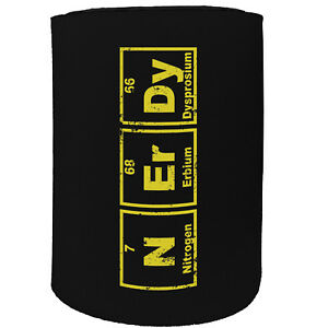 Stubby Holder Nerdy Periodic Table Funny Novelty Birthday Gift Joke Beer Can