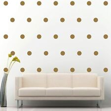 "200 of 2"" Gold Polka Dot Circle Removable Peel & Stick Wall Vinyl Decal Sticker"