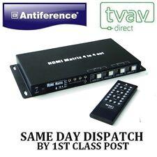 Antiference 4x4 HDMI Matrix 4k compatible hdmi0404m [ soporta 4k uitra HD]