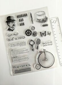 Clear large silicone stamps craft mixed media scrapbooking card making