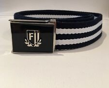 Blue And White Silver Finish On Buckle Size Large Nautical Men's Belt