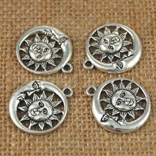 Moon And Sun 10pcs Pendant Charms Hot High Quality Silver Tone Jewelry Making