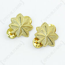 US Army MAJOR OFFICER Rank Insignia Gold Badges American Military Oak Leaves Pin