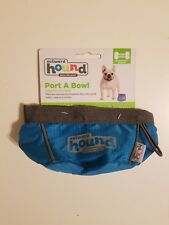 Collapsible Travel Dog Food Water Bowl - Outward Hound Port A Bowl, 24 oz, Blue