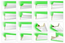 2 Meter LED Leisten Stuck Profile indirekte Beleuchtung PU lichtundurchlässig
