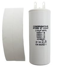 Condensateur de 2.8 µF (2,8 uF) pour moteur SOMFY ou SIMU de volet ou store