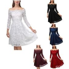 Boat Neck 3/4 Sleeve Casual Dresses for Women