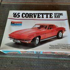 Nos Monogram 1965 Corvette Model Kit Factory Sealed 1/8 Scale #2600