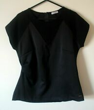 MISS SIXTY Black Stretch Tailored Ruched Side Top Flawless SIZE L